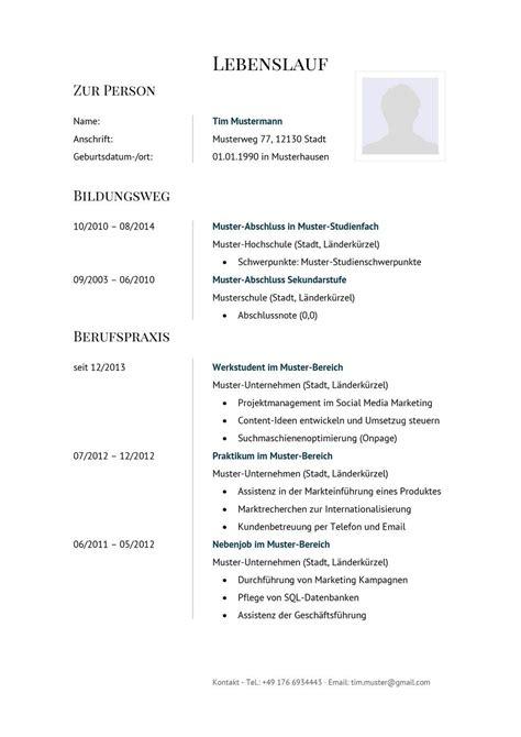 Angebot Musterschreiben Pdf Lebenslauf Muster F 252 R Finanzberater Lebenslauf Designs