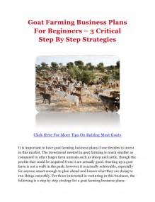 goat farming business plans for beginners 3 critical