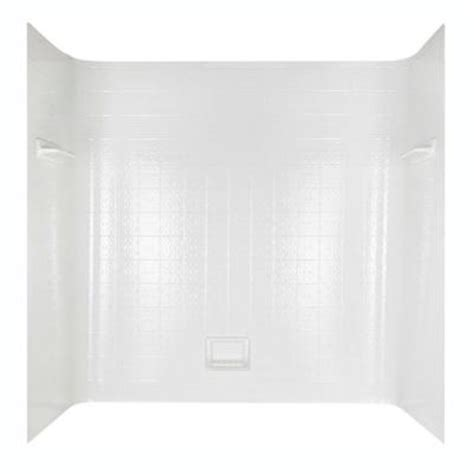tile seamless bathtub wall set in white 36980 the home depot