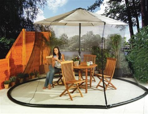 Deck Awnings With Mosquito Netting by 5 Best Umbrella Table Screen Keep Pests From Bothering Your Outdoor Tool Box