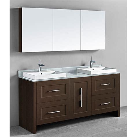 Retro Bathroom Vanities Madeli Retro 72 Quot Bathroom Vanity For Glass Counter And Porcelain Basin Walnut Free