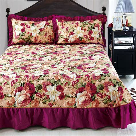 Quilted Bedskirt by Home Textile Bedspread Winter Quilted Bedspread Ruffles