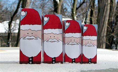 Santa Paper Craft - paper crafts nesting santa dolls woo jr