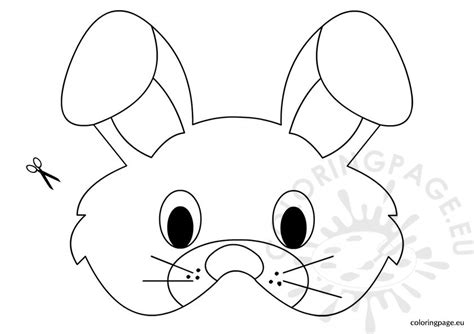 easter bunny face coloring pages to print rabbit mask template coloring page