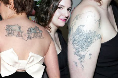 lena dunham tattoo lena dunham tattoos celebritiestattooed