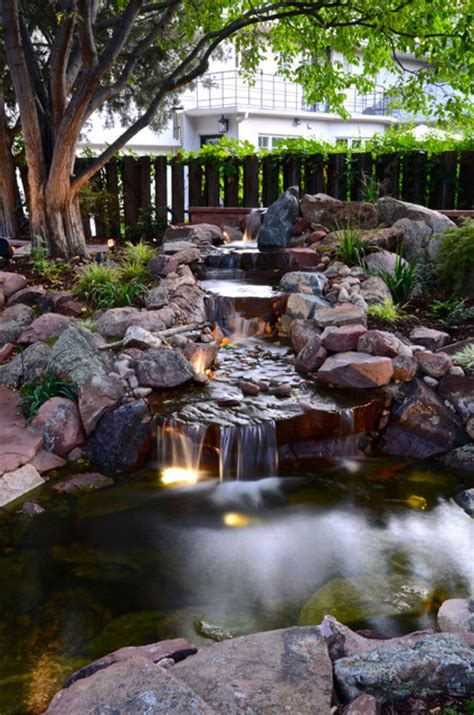 yard features park hill backyard water feature traditional landscape