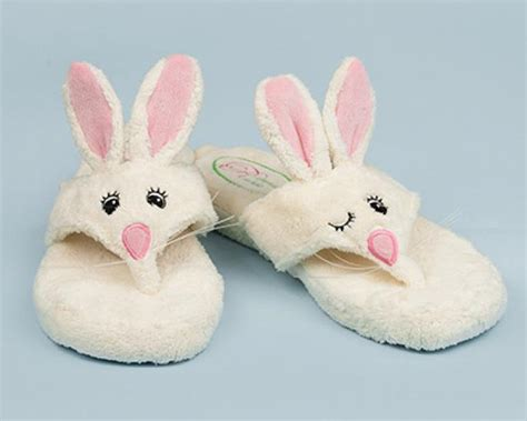 bunny house shoes flip hop spa sandals bunny rabbit spa sandals