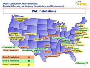 army bases map pal locations and condition assesments privatized army