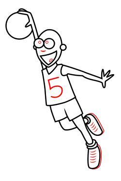Drawing A Cartoon Basketball Player Cool Drawings Of Shooting 2