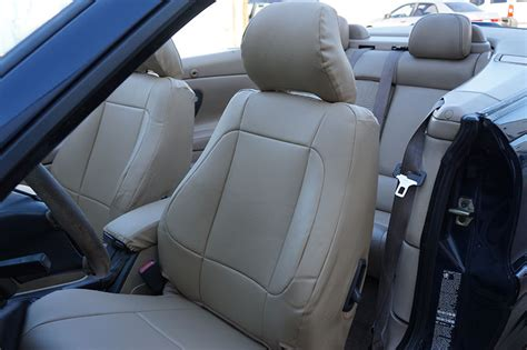 volvo  convertible   leather  custom fit seat cover  colors ebay