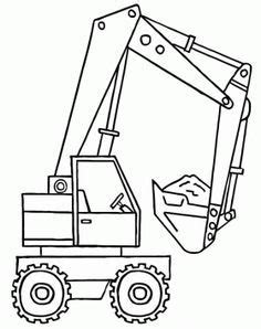 Asphalt 8 Coloring Pages by A Backhoe With The Shovel Of Material Coloring Page