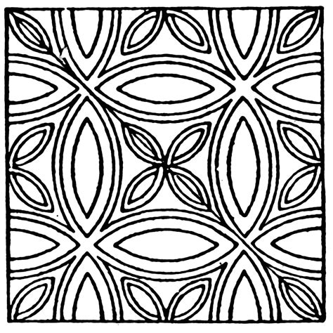 pattern clipart black and white medieval tile circle pattern clipart etc