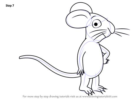 Gruffalo Mouse Outline by Learn How To Draw Mouse From The Gruffalo The Gruffalo Step By Step Drawing Tutorials