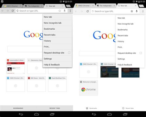 chrome themes material design latest android chrome beta uses new material design ui