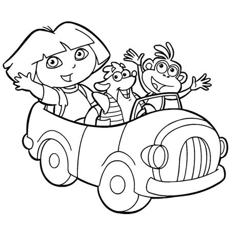 coloring dora coloring pages