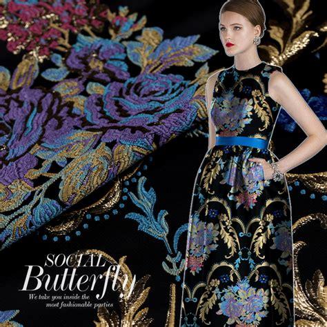 Segiempat Satin Emboss Jacquard Silk 10 imported jacquard tapestry satin jacquard fabric suit windbreaker big name fashion fabric