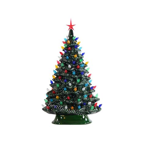 Windowsill Style Lighted Ceramic Christmas Tree Made To Order Ceramic Lighted Tree