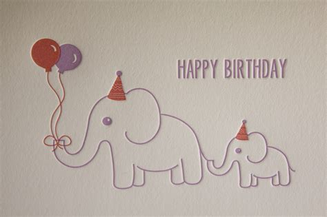 printable birthday cards elephant happy birthday elephants elephant birthday greeting card