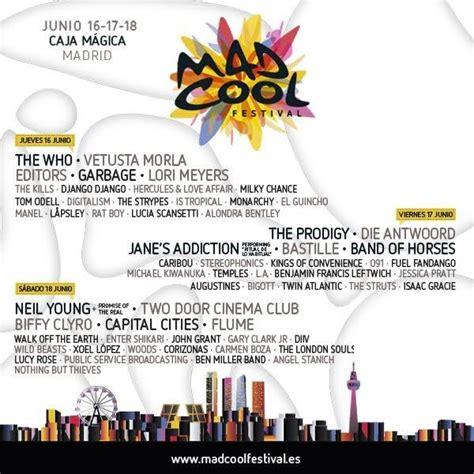 mad coll mad cool festival 2016 con env 237 o de pulsera a domicilio ticketea