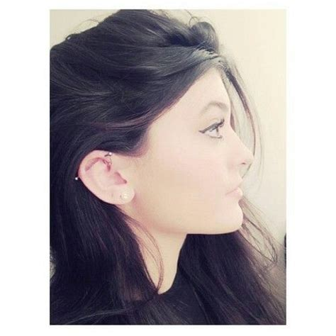 kendall jenner tattoo behind ear 12 best piercings images on pinterest kylie jenner ear