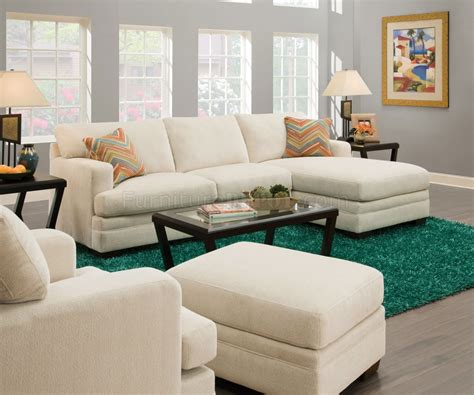 sassy sofa norell sectional sofa 52315 in sassy cream fabric by acme