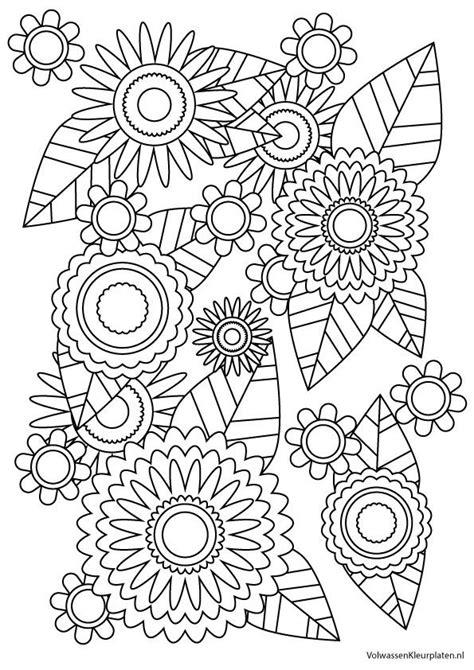 bloemen haken 1 kleur plat 25 beste idee 235 n over bloem kleurplaten op pinterest