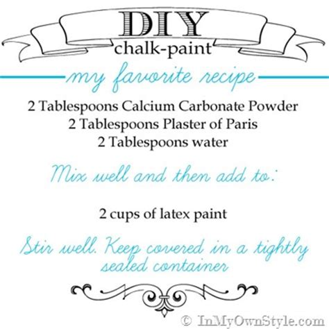 chalk paint recipe calcium carbonate diy chalk paint recipes make chalk paint in my own style