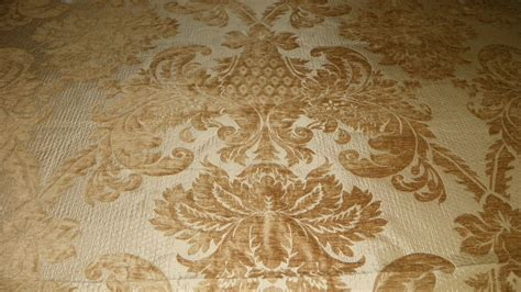 Sofa Upholstery Designs Gold Victorian Leaf Print Chenille Upholstery Fabric 1