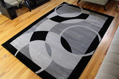 1052 Gray Black 5x7 8x10 Area Rugs Carpet Contemporary New 8x10 Black Area Rug