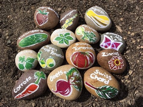 Painted Rocks For Garden Rockville Diaries