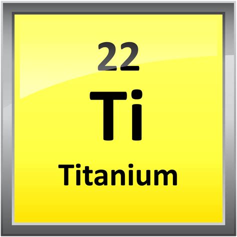 Periodic Table Ti 022 Titanium Science Notes And Projects