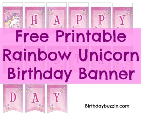 printable unicorn birthday banner free printable rainbow unicorn birthday banner birthday