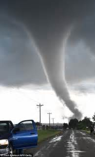 oklahoma tornadoes leave at least two dead and