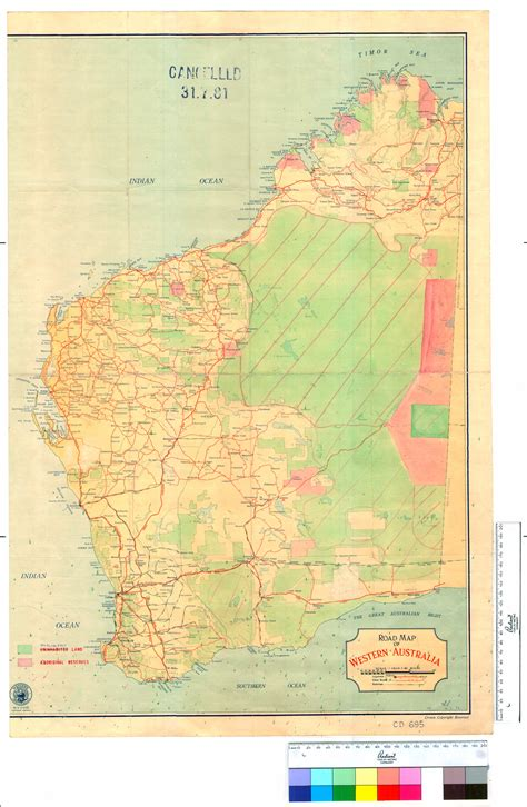 scale map of australia road map of western australia scale 60 to an inch