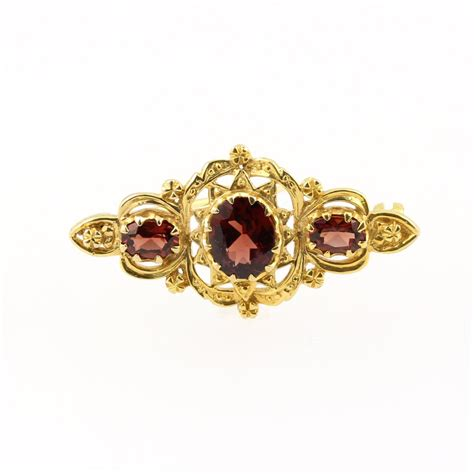Bross Black Flower Brooch Channel 9ct yellow gold style oval garnet 3 brooch gemstone brooches from mr harold