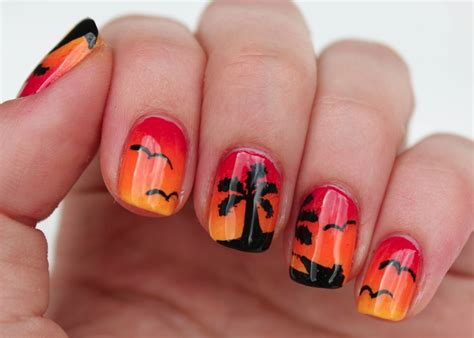 Sunset Nail fundamentally flawless sunset nail with palm trees