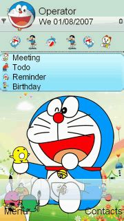doraemon themes for nokia e5 doraemon s60v5 theme