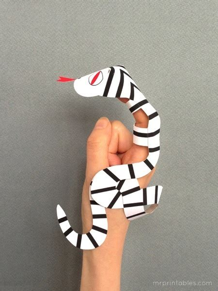 snake finger puppets mr printables snake finger puppets mr printables