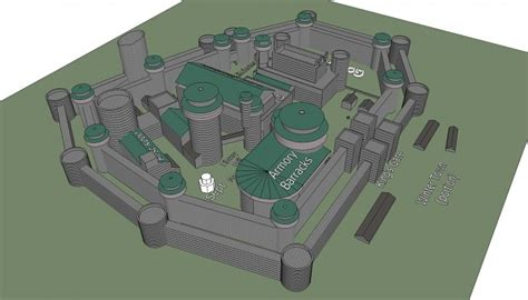 layout house skyrim winterfell blueprint early 02 concept model image the