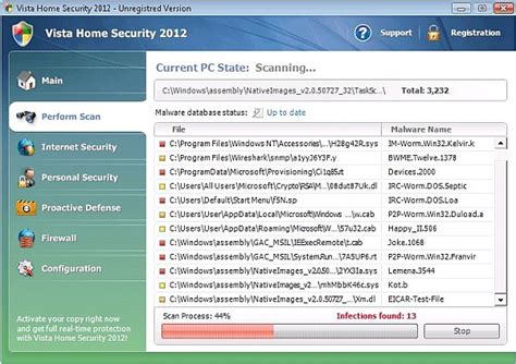how to remove vista home security 2012