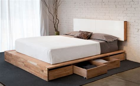 Wall Mounted Bed Headboard by Lax Series Platform Bed With Storage Drawers And Wall