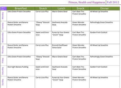10 Day Detox Diet Plan Menu by Cleanse Diet Menu