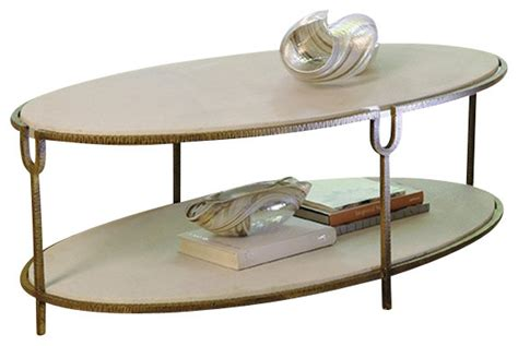 global views iron and oval coffee table
