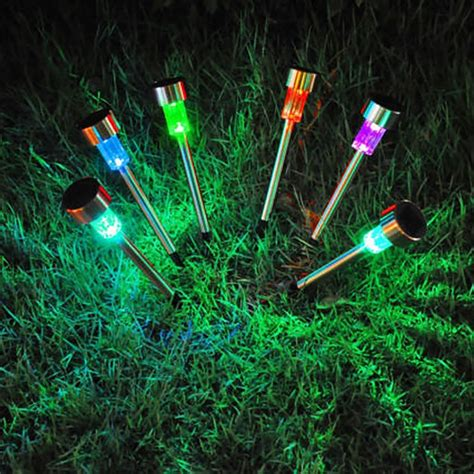 color changing solar path lights color changing solar garden lights bing images