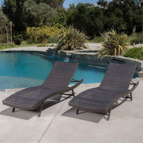 Eliana Set 2 eliana outdoor brown wicker chaise lounge chairs set of 2 great deal furniture