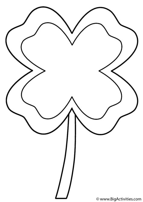 coloring pages of four leaf clover four leaf clover with border coloring page st patrick