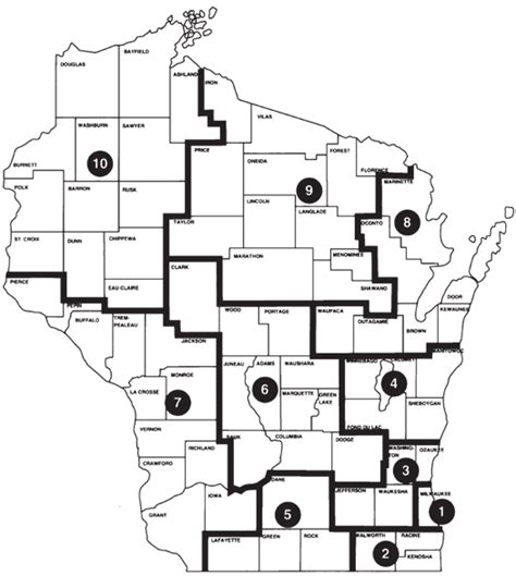 Wi Circuit Court Search Wisconsin Court System Circuit Courts Judicial Administrative Districts Map