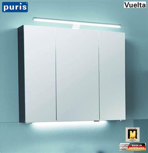 spiegelschrank puris puris vuelta spiegelschrank 70 cm mit led aufsatzleuchte