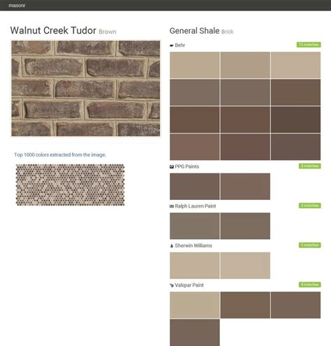 walnut creek tudor brown brick general shale behr ppg paints ralph paint sherwin