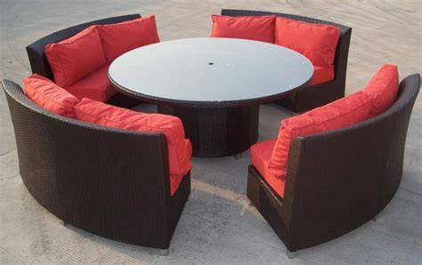 outdoor round couch high quality outdoor patio round wicker sofa dining set